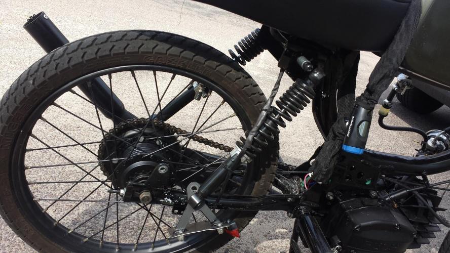Moped Shock Mishap
