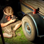 Pre-rally trailer maintenance